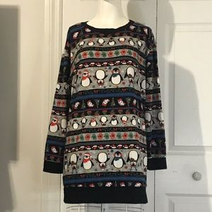 Sweaters - Ugly Christmas sweater with penguins size XL